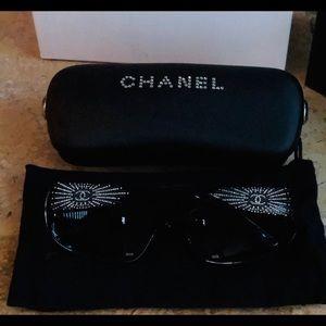 Chanel Swarovski Cyrstal CC Sunglasses